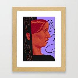 Deep dark water Framed Art Print