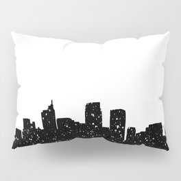 Panorama city in lights or snow Pillow Sham