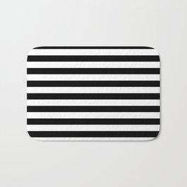 Black and White Horizontal Strips Bath Mat