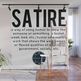 Satire defined Wall Mural