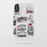 cities iPhone & iPod Cases featuring Cities 1  by sladja