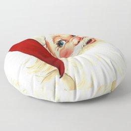 Cute laughing vintage santa Floor Pillow