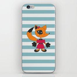 Cute fox. Cartoon style animal character illustration. iPhone Skin