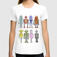 robots T-shirts featuring Robots by Annabelle Scott