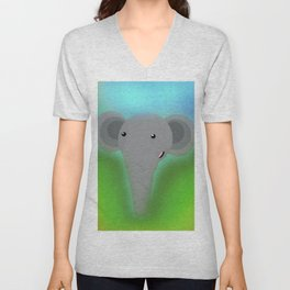 Elbert the Elephant Unisex V-Neck