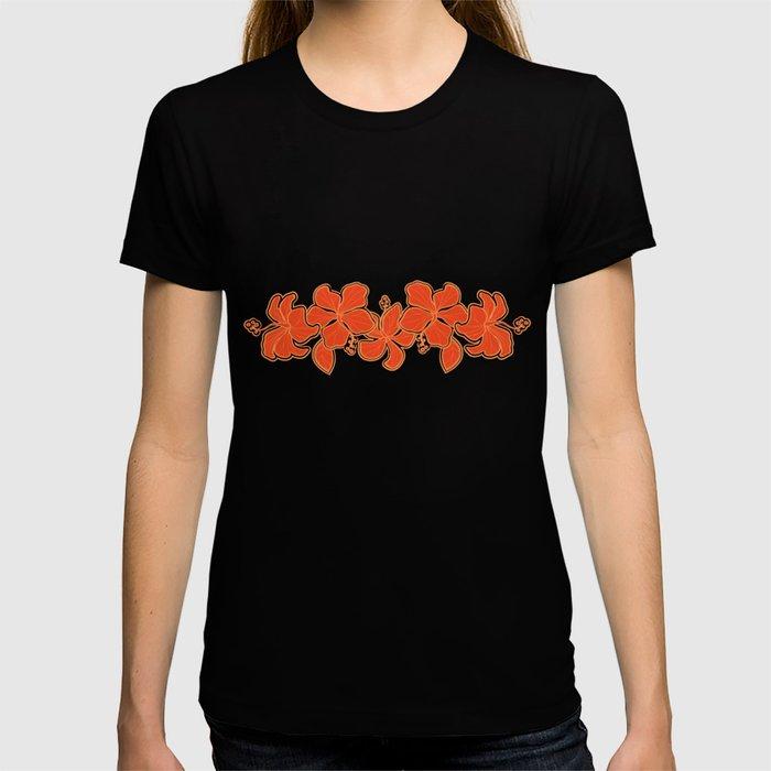 Kailua Hibiscus Hawaiian Engineered Floral T-shirt