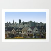 Art Print featuring San Francisco Painted Ladies by itsrturn