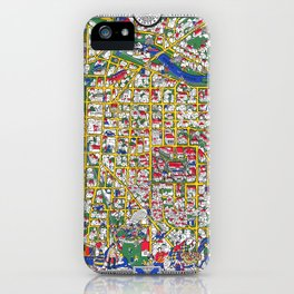 ANN ARBOR University map MICHIGAN dorm iPhone Case
