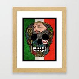 St. Patrick's Day Skull Framed Art Print
