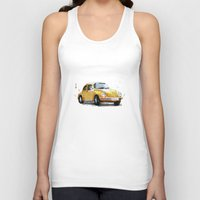 vw Tank Tops featuring VW Beetle by Carlos Quiterio