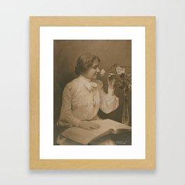 Helen Keller Vintage Photo, 1904 Framed Art Print