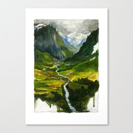 The Hidden Valley (original) Canvas Print