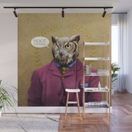 "Mr. Owl says: ""HOOT Happens!"" Wall Mural"
