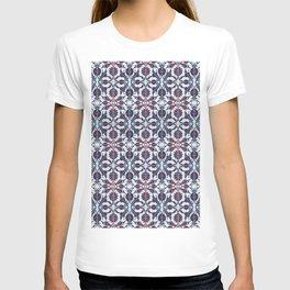 Vintage Blue Ceramic Tiles Wall Decoration T-shirt