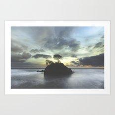 Selva . Piedra . Mar Art Print