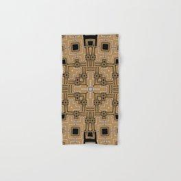 Gold Glitter Geometry Glam Hand & Bath Towel