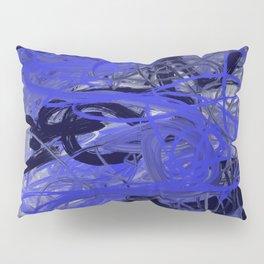 Blue & Gray Abstract Pillow Sham