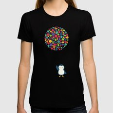 Float In The Air Black Womens Fitted Tee LARGE