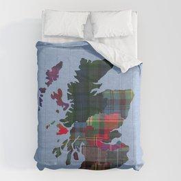 Scotland Counties Fabric Map Art Comforters