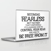 divergent Laptop & iPad Skins featuring BECOMING FEARLESS - Divergent by All Things M