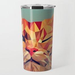 Winking Cat Vector Illustration Travel Mug