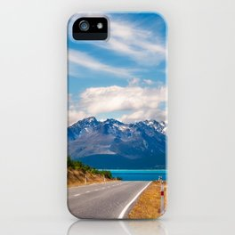 Amazing alpine scenery on a road trip in New Zealand iPhone Case