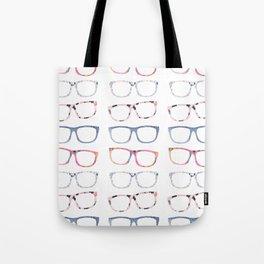 Bespectacled // Watercolor Glasses Print Tote Bag