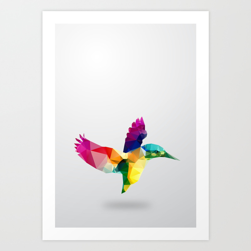 Bird. Glass Animal Series Art Print by Threeofthepossessed PRN1254832