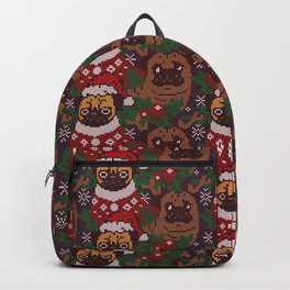 Christmas Party With The Pug Backpack