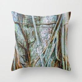 Strangler Fig Closeup Throw Pillow
