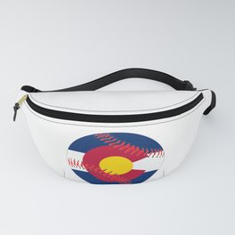 Colorado Flag Baseball Fanny Pack