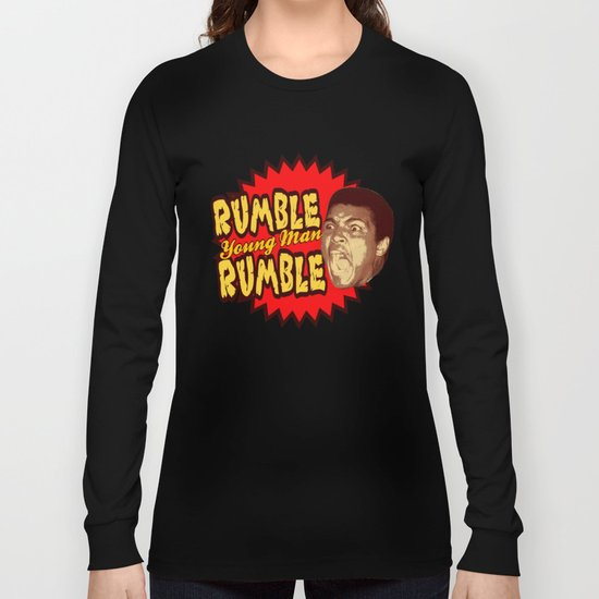 Rumble Young Man Rumble  |  Ali Long Sleeve T-shirt