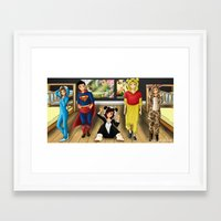 onesie Framed Art Prints featuring onesie project by Sakuraflor