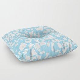 Terrazzo Blue Floor Pillow