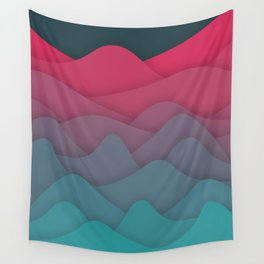 Liquid Mountains Wall Tapestry