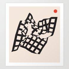 Peace and Broken Teeth 3 Art Print