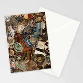 Retro badges collection Stationery Cards