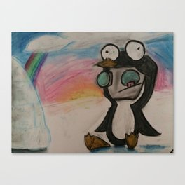 Space Penguin  Canvas Print