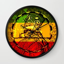 Lion of Judah Haile Selassie King of Kings Wall Clock