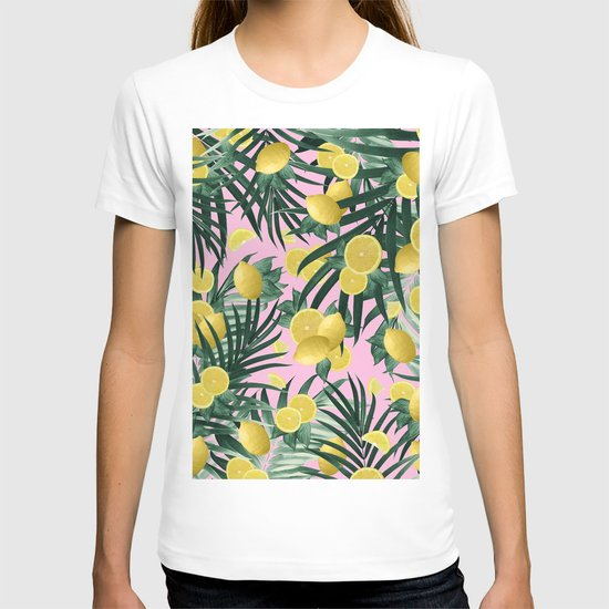 Summer Lemon Twist Jungle #6 #tropical #decor #art #society6 by anitabellajantzart