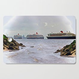 Three Queens on the River Cutting Board