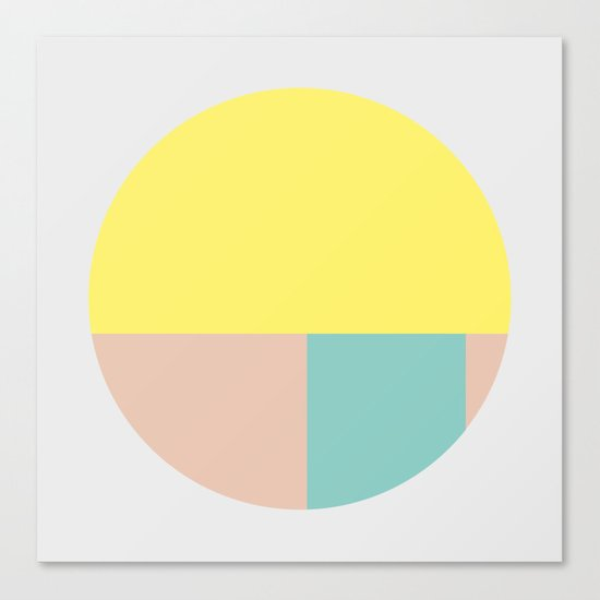 Pastel collection I Canvas Print
