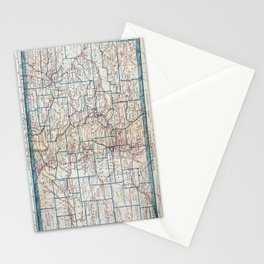 Vintage Map of Colorado (1921) Stationery Cards