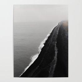 Black Sand Beach, Iceland Poster