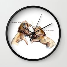 Dress fight - Blue or white? Wall Clock
