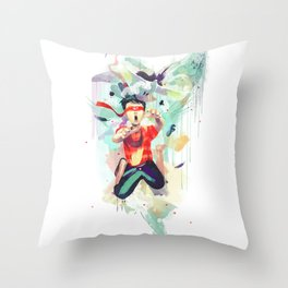 Pursuit of Happiness (Blindfolded) Throw Pillow