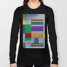 Mid-Century Modern Art - Rainbow Pride 1.0 Long Sleeve T-shirt
