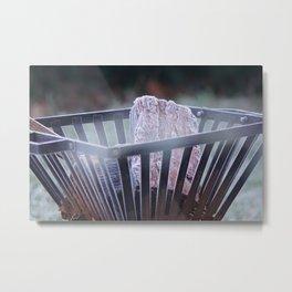 Frosty Fire Pit Metal Print
