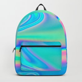 Holographic Iridescence Chill Vibes Backpack