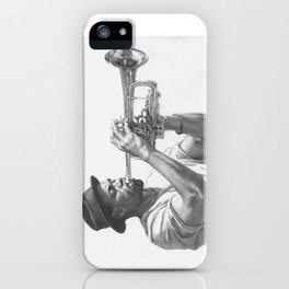 Trumpet Player (graphite) iPhone Case